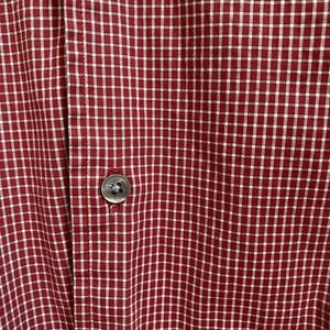 Banana Republic Men's Red White Plaid Button Down